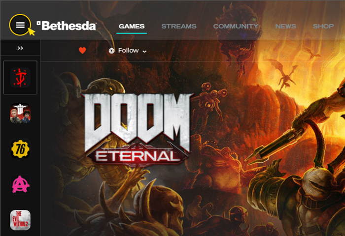 Activation on Bethesda Launcher. Step 2