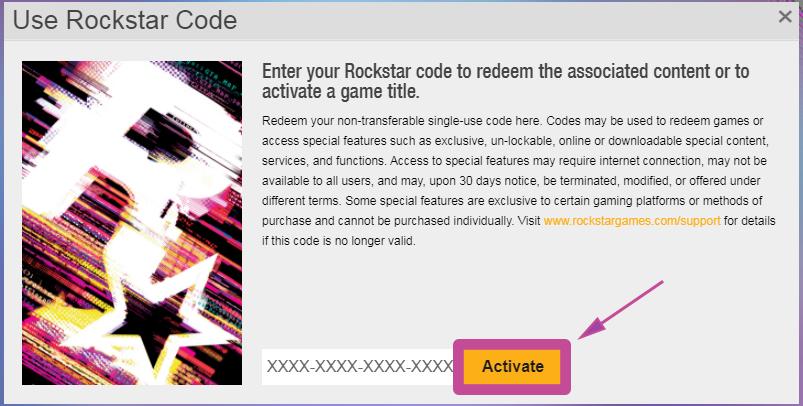 Rockstar Aktivierung per Webseite. Schritt 4