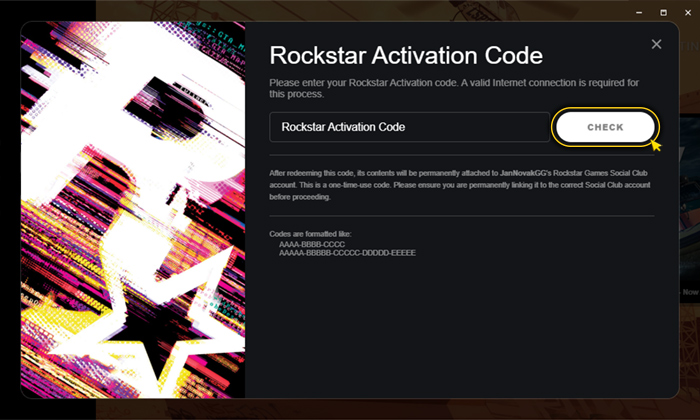 Activation on Social Club. Step 4
